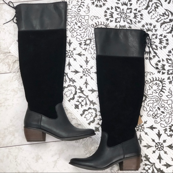 9b7200ea252 Lucky Brand • Black Komah Knee High Boots NWT